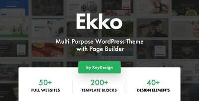 Ekko Multi-purpose Wordpress Theme With Page Builder Lastest Version