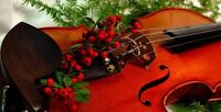 Live violin music for your holiday special
