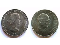 Churchill-Vintage 1965 Coin with Elizabeth II Dei Gratia Regina F.D. 14448C