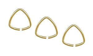 Gold-10mm-Triangle-Jump-Ring-Pinch-Bails-20pc