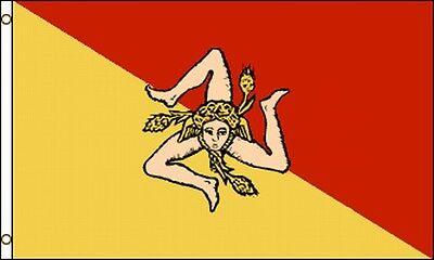 Sicilian Flag 3x5 Ft Italian Sicily Italy Bannera Da Sicilia Bandiera Siciliana