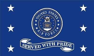 Air Force Served With Pride Flag 3x5 ...