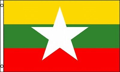 Flag Of Myanmar 3x5 Ft Burma Republic Of The Union Of Myanmar Southeast Asia