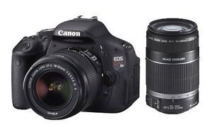 Canon EOS 600D Kiss X5 18-55mm 55-250mm Double Lens Kit Digital SLR Camera DSLR