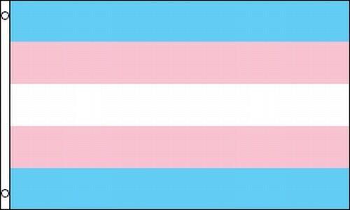 Transgender Pride Flag 3x5 Ft Banner Pink Blue Transsexual Transvestite Trans