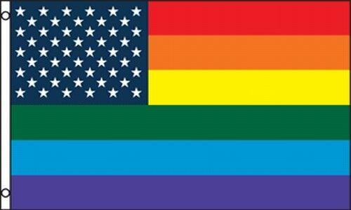 US-Rainbow-Flag-3x5-ft-Gay-Lesbian-GLBT-Pride-USA-Stars-Stripes-American-America