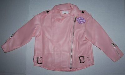 Harley Davidson Costume Motorcycle Jacket S 4-6 or L 12-14 Halloween Biker Girl