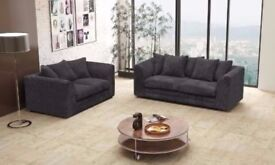BLACK GREY OR MINK BROWN NEW DYLAN JUMBO CORD SOFA IN DIFFERENT COLORS -- CORNER OR 3 AND 2 SEATER