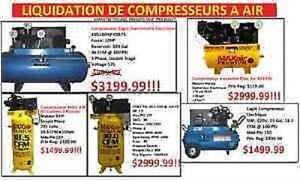 GRANDE VENTE DE COMPRESSEURS A AIR (Voir description)
