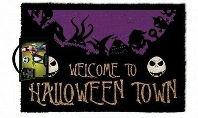 Nightmare Before Christmas Welcome To Halloween Town Fußmatte - Halloween Town