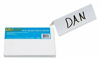 Gowrite Dry Erase Tent Cards Non Adhesive 8 12x3 50 Cards New Free Ship
