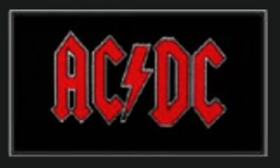 AC/DC - Patch - Woven Import Sew on -RED Logo-collector's - Licensed NEW