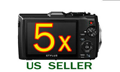 5x Olympus Tough TG-3 TG3 Digital Camera LCD Screen Protector Guard Shield Film