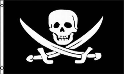 - 2X3 Jolly Roger Pirate Calico Jack Rackham Flag 2'x3' Banner USA SELLER