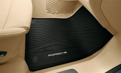 Genuine OEM Porsche Rubber Floor Mats Panamera Black 2010+ 970 Set of 4