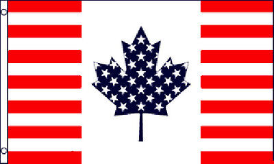 For sale USA Canada Friendship Flag 3x5 ft United States Canadian American America US