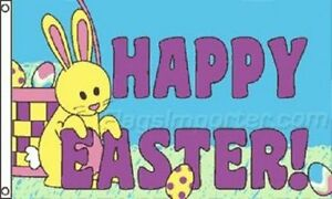 3x5 Happy Easter Flag 3'x5' house banner Premium FADE Restistant