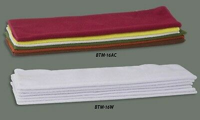 New 6 White Microfiber Bar Kitchen Towels - Free Shipping