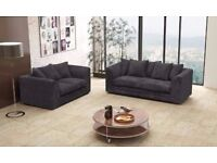 "❤Superb Quality Furnitures❤ New ""Double Padded"" Italian Dylan Jumbo Cord Corner Or 3+2 Seater Sofa"