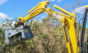 BRUSH MULCHERS ,GRAPPLE BUCKETS , HIGH DUMP BUCKETS, QUICK ATTAC