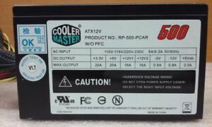 COOLER MASTER  RP-500-PCAR 500W ATX12V Power Supply