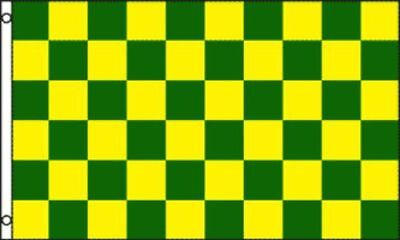 Green and Yellow Checkered Flag Advertising Banner Store Sign Party Pennant 3x5 - Checkered Flag Pennant Banner