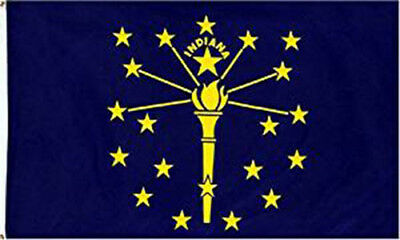 3x5 Indiana State Flag State of Indiana Premium Banner Grommet FAST USA SHIPPER