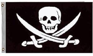 Jack Rackham Jolly Roger Pirate Flag Ship Banner Pennant 3x5 Foot Indoor Outdoor