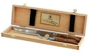 Laguiole 40268709 Tranchierbesteck in Holzbox | Tranchier Besteck Messer Gabel