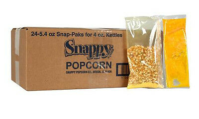 Popcorn Machine Supplies - Popcorn Snap Packs For 4 Oz - 24cs