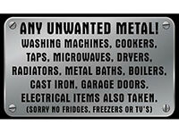Wanted Free Scrap Metal /Cookers/Washers/Dryers/Old car or leisure batteries collected Wed 16th Nov