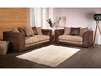 BRAND NEW SOFA 3+2 SEATER OR CORNER SETTEE **ONE YEAR WARRANTY**