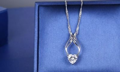 Piece Of My Heart In Heaven Guardian Angel Necklace Made with Swarovski Crystal - Guardian Angel Necklace