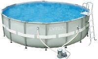 "Intel 18' x 52"" with jacuzzi sand filter"