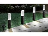 firefly Rattan Stake Solar Lights set of 4