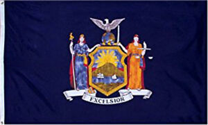 3X5 New York State Flag State of New York Banner Grommets FAST USA SHIPPING