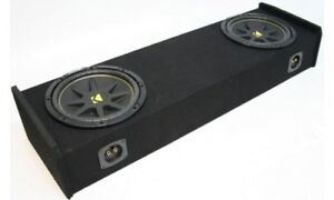 Subwoofer Package - Dual 12 enclosure with Kicker Subs