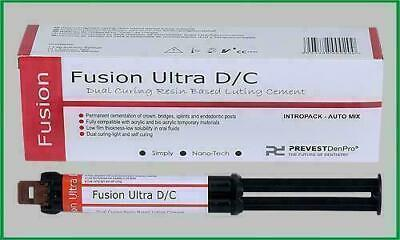 Prevest Fusion Ultra Dc 9gm Dual Curing Resin Luting Cement Dental Free Ship