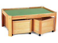 Pintoy playtable & pull-out storage bins