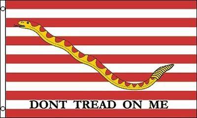 First Navy Jack - First Navy Jack Flag 3x5 ft Don't Tread on Me Rattlesnake US Naval Ensign Ship