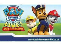 Family ticket (5 people) to Paw Patrol Live, Cardiff