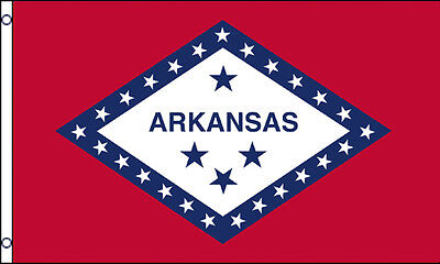 3x5 Ft ARKANSAS AR State US American Flag - Polyester f  Arkansas Ar State Flag