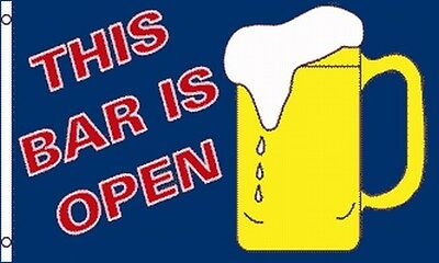 This Bar Is Open Flag Banner 3x5 Ft Party Or Bar Advertising Sign Beer Mug Stein