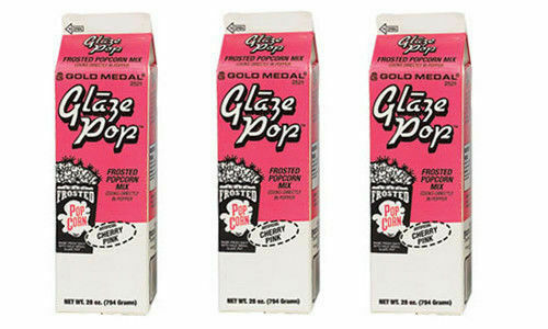 Glaze Pop, Cherry Popcorn Flavoring, Gold Medal 2521, 3 Cartons