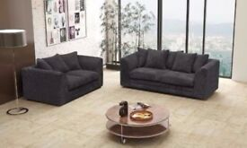 == FAST DELIVERY== BRAND NEW DYLAN JUMBO CORD CORNER OR 3 +2 SOFA IN BLACK BEIGE BROWN AND GREY