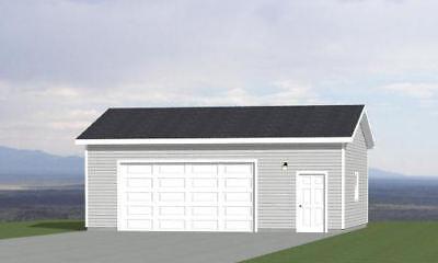 30x24 2-Car Garage -- 720 sq ft -- PDF Garage Plan -- 10ft Walls -- Model 10C
