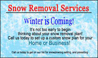 **BEST PRICES**Snow Removal Services