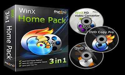 WinX 3 In 1 Home Pack-DVD Ripper-DVD Copy Pro-Video Converter Pro-DVD Burner Winx Video Converter