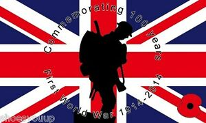 WORLD-WAR-1-WW1-100-YEARS-Centenary-5ft-x-3ft-Army-Navy-RAF-British-Forces-Flag