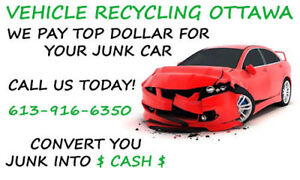 Highest Prices Cash Paid For Your Scrap Vehicle!
